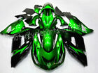 Black Green Injection Fairings Bodywork  Fit Kawasaki Ninja ZX14R 2006-2011 2009