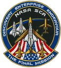 PATCH 425 inch Space Shuttle FINAL MISSION Discovery Enterprise Endeavour NASA