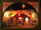 Rare Vintage Noma Illuminated Nativity Scene 503 In Box Indoor Outdoor 30 x 24