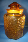 Vintage L.E. Smith Amber Daisy And Button Canister 10