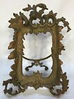 Antique Art Nouveau Ornate Solid Brass Or Bronze Standing Picture Frame