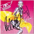 AEROSMITH Just Push Play - STEVEN TYLER & BRAD WHITFORD Jaded Autograph / SIGNED