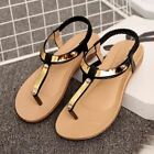 TRENDY STYLISH METAL ACCENTED BEACH SUMMER CASUAL SANDALS
