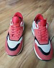 Z ZEGNA MENS RED SUEDE SNEAKERS SIZE 8US