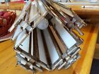 Antique Salvage Cathedral Style Hanging Light Fixture Stacked Paneled Glass 25