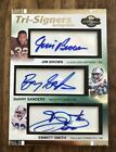 JIM BROWN BARRY SANDERS EMMITT SMITH 2007 Topps Tri-Signers AUTO Autograph 7 10