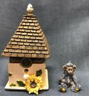 Boyds Bear Sunny's Home Tweet Home W/ Birdie McNibble Treasure Box 1G #4028494