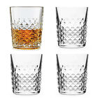 Whiskey Glasses Set of 4 Drinking Scotch Bourbon Crystal Rocks Glass Cup 12 oz