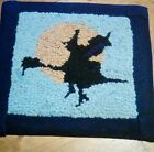 Primitive Witch Moon hand hooked wool mat by JaJa
