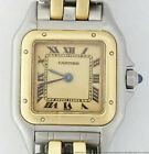 Cartier 18K Gold Stainless Steel 2 Stripe Panthere for Small Women Wrist Watch
