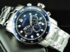 Invicta Men Scuba Master Of Ocean Blue Dial Chronograph Stainless Steel Watch