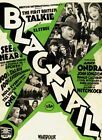 130549 Blackmail 1929 Alfred Hitchcock Anny Ondra Decor WALL PRINT POSTER US
