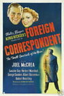 130557 Foreign correspondent Alfred Hitchcock Decor WALL PRINT POSTER US