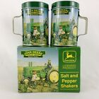 John Deere Salt and Pepper Shaker Set Picture Model A Tractor OME Box