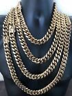 HARLEMBLING 18mm Mens Miami Cuban Link KILO Chain 14k Gold Plated HEAVY 18 30
