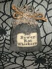 Halloween Primitive Witch's Brew Ingredient Bowl Filler~SEWER RAT WHISKERS