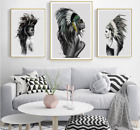 Abstract Feathers Indians Wall Art Fabric Unframed Home Decor Painting Prints