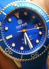 AUTHORIZED DEALER COMPANY NEW DEEP BLUE MASTER 1000 300FT AUTOMATIC BLUE DIAL