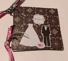 Handmade Chipboard Mini Scrapbook Album OUR WEDDING DAY Premade Pages O Ring