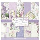 STAMPERIA DOUBLE SIDED PAPER PAD 12X12 LILAC FLOWERS 10 SHEETS