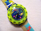 1993 Scuba 200 Over The Wave SDN105 Swatch Watch .