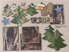 SALE Premade Scrapbook Pages Mat Set Paper Piecing WILDLIFE Sewn pack890