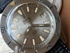 Vintage Sandoz Tropicalized Divers Watch w/Signed Crown,All SS Case,Tropic Strap