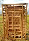 VINTAGE Primitive Wooden Chicken Crate upcycle coffee table fixer up style FARM