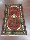Semi Antique Hand Knotted Persian Hamadan Geometric Rug Carpet 3x5,2'6