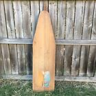 Vintage 1930s Farmhouse Wood Folding Full-Size Ironing Board With Graphic