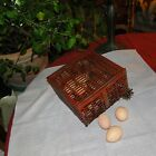 VINTAGE ANTIQUE CHICKEN EGG METAL CAGE CRATE RED PRIMITIVE