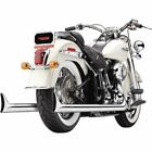 Cobra True Duals Complete Exhaust System With Fishtail Tips HARLEY DAVIDSON