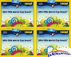 (4)2014 Panini World Cup Brazil Factory Sealed 50 Pack Sticker Box-1,400 Sticker