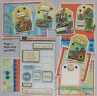Premade Scrapbook Pages Mat Set Paper Piecing Friend Boys Pals Sewn pack890