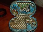 Vera Bradly Bali Blue Jewelry box case floral Print blue green New Without tags
