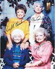 THE GOLDEN GIRLS CAST AUTOGRAPHED 8x10 RP PHOTO BETTY WHITE BEA ARTHUR ALL FOUR