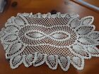 Beautiful Vintage White Hand Crocheted Large Doily