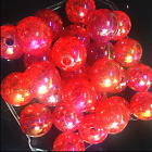 10pcs red Crackle Glass Round 12mm Beads Jewelry Findings Craft Bead Supply