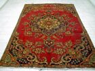 10X7 1940's AUTHENTIC HAND KNOTTED 70+YRS ANTIQUE GOLD WASHED TABRIZ PERSIAN RUG