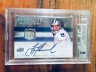 TROY AIKMAN 2008 UD Exquisite Collection Jersey Patch Auto BGS 9 #6 10 Cowboys!!