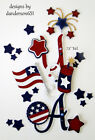 PATRIOTIC USA Die Cuts Paper Piecing PreMade 4 Border Scrapbook danderson651