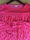 Boden Sz US 4 Pink And Poppy Red 3 4 Sleeve Blouse