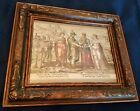 VERY RARE 16TH CENTURY COLORED ENGRAVING Marriage of Labor and Diligence 1572