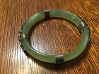 Vintage Translucent Jade Jadeite Bangle Bracelet Dragon Deco