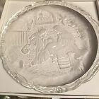 Mikasa Nativity Scene Decorative Plate Platter Round Large Stand Clear Box