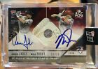 2018 Topps Now Aaron Judge Mike Trout Game Used ASG-1B Base Auto Relic 10 Red