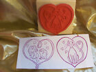 Dog Cat Heart Love StampJust For Fun Rubber Stamp NEW 2 Designs
