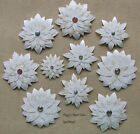 SALE Handmade Scrapbooking Embellishments 10 Cards Layered Flowers pack890