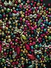Vintage 500+ Lot Loose Mercury Glass Christmas Beads Indents Garland or Icicles