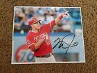 MIKE TROUT LOS ANGELES ANGELS AUTOGRAPHED 8x10 PHOTO (B) to pass psa..bgs..jsa